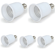 E12 to E26 American / Canadian Standard Screw Base for LED Halogen Light Lamp Bulb (5 Pieces)