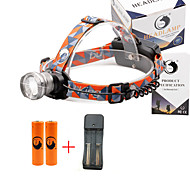 U'King® ZQ-X830S#3-US CREE XML-T6 LED 2000LM Zoomable 180 Rotate 3Modes Headlamp Bike Light Kits with Rear Safety LED