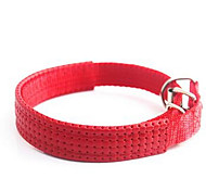 Dog Collar Adjustable/Retractable Solid Red Black Blue Nylon