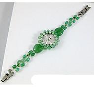Women's Fashion Watch Quartz Jade Band Green
