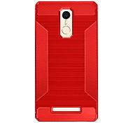Pour Antichoc Coque Coque Arrière Coque Couleur Pleine Flexible PUT pour Xiaomi Xiaomi Redmi 3 Xiaomi Redmi Note 3