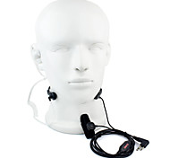 2 Pin PTT Throat MIC Headset Walkie Talkie Covert Acoustic Tube for Motorola GP88 GP300 GP2000 HYT TC-500S