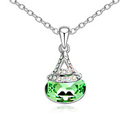 Women's Pendant Necklaces Crystal Jewelry Chrome Unique Design Personalized Jewelry For Anniversary Congratulations Gift 1pc