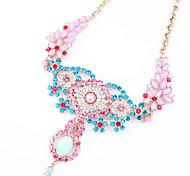 Women's Strands Necklaces Jewelry Chrome Unique Design Fashion Light Green Light Blue Jewelry For Wedding Congratulations 1pc