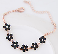 Chain Bracelet Alloy Resin Flower Fashion Women's Jewelry 1pc