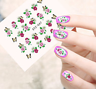 10pcs/set Fashion Sweet Style Nail Art Sticker Beautiful Flower Design Beautiful Nail Water Transfer Decals Nail DIY Beauty Decals STZ-047