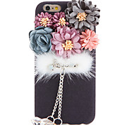 For DIY Case Flower Mink Fur Ball Soft Nubuck Leather Case for Apple iPhone 7 Plus iPhone 7 iPhone 6s Plus/6 Plus iPhone 6s/6