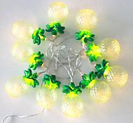 1.5W W Cuerdas de Luces 30 lm Batería 1 m 10 leds Blanco cálido