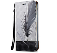 For Samsung Galaxy A7 A5 A3(2017) Case Cover Feathers Pattern 3D Painted Relief Super Strong Magnetic Adsorption PU Material Phone Case A5 A3(2016)