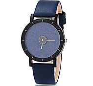 Women's Fashion Watch Quartz Leather Band Casual Black Blue Yellow