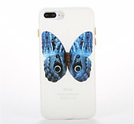 For Glow in the Dark Pattern Case Back Cover Case Butterfly Soft TPU for iPhone7 7plus 6 6Splus 5 5S