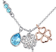 Women's Pendant Necklaces Crystal Leaf Chrome Unique Design Personalized Jewelry For Wedding Anniversary Congratulations 1pc