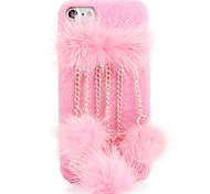 For DIY Case Back Cover Case Solid Color Rabbit Hair Chain Frosted Case for Apple iPhone 7 Plus iPhone 7 iPhone 6s Plus/6 Plus iPhone 6s/6