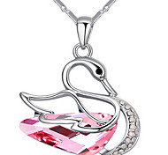 Women's Pendant Necklaces Crystal Animal Shape Chrome Unique Design Personalized Jewelry For Wedding Anniversary Congratulations 1pc