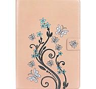Для Бумажник для карт со стендом Рельефный Кейс для Чехол Кейс для Бабочка Твердый Искусственная кожа для Apple iPad Pro 9.7''