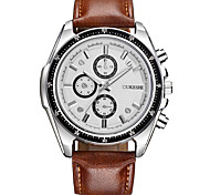 Men's Dress Watch Fashion Watch Casual Watch Chinese Quartz PU Band Cool Casual Brown White Black