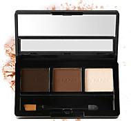 3 Colors Shimmer Powder Makeup Eyeshadow Palette Long Lasting Waterproof Natural Eyeshadow With Brush Beauty Women Gift