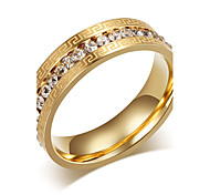Ring Fashion Steel Gold Jewelry For Casual 1pc