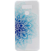 For LG G6 LS775 X Power Case Cover Half Flower Painted Pattern TPU Material Phone Case