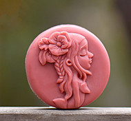 Long Hair Girl Shape Soap Mold DIY Silicone Soap Mold Handmade Soap Salt Carved DIY Silicone Food Grade Silicone Mold