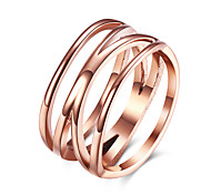 Rose Gold Color Fashion Titanium Steel Jewelry Finger Ring for Women