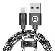 torras® USB 2.0 Micro USB 2.0 Braided Cable For Samsung Huawei Sony Nokia HTC Motorola LG Lenovo Xiaomi 200 cm Nylon Aluminum TPE