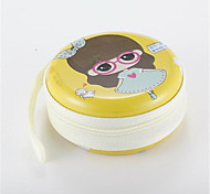 Little Girl Pattern Metal Earphone Universal Case