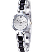 Women's Fashion Watch Simulated Diamond Watch Quartz Ceramic Band Casual Black White Silver Pink Purple