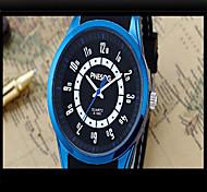 Men's Fashion Watch Quartz Silicone Band Casual Blue