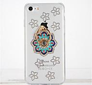 Для Стразы Кольца-держатели Своими руками Кейс для Задняя крышка Кейс для Цветы Мягкий TPU для Apple iPhone 7