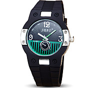 Unisex Sport Watch Fashion Watch Quartz Silicone Band Black