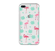 For Transparent Case Back Cover Case Flamingo Soft TPU for Apple iPhone 7 Plus/iPhone 7/iPhone 6s Plus/iPhone 6s/ iPhone 5