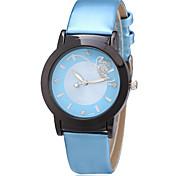 Da donna Orologio alla moda Quarzo PU Banda Casual Blu Blu chiaro Blu