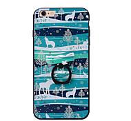 Для Кольца-держатели Кейс для Задняя крышка Кейс для Животный принт Твердый PC для AppleiPhone 7 Plus iPhone 7 iPhone 6s Plus iPhone 6