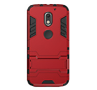 For Motorola Moto G5 Plus G4 Plus Case Cover Shockproof with Stand Back Cover Solid Color Hard PC X Play G3  G4