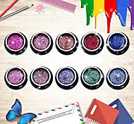 Nail Art Glitter UV Gel Nail Polish Set UV&LED Lamp Glitter Color UV Gel Soak off Long Lasting