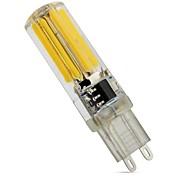 новый 4w e14 g9 g4 светодиодный двухконтактный фонарь t 1 cob 450 lm теплый белый холодный белый dimmable ac 220-240 v 1 шт.
