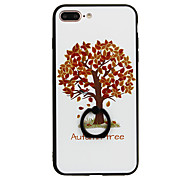 Для Кольца-держатели С узором Кейс для Задняя крышка Кейс для дерево Твердый PC для Apple iPhone 7 Plus iPhone 7