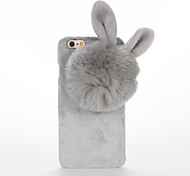 For DIY Case Rabbit Ears Plush Back Cover Case for Apple iPhone 7 Plus iPhone 7 iPhone 6s Plus iPhone 6 Plus iPhone 6s iPhone 6