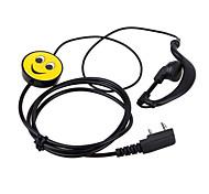 Serveur walkie talkie sourire ptt micro écouteur casque écouteurs bande dessinée écouteurs 365 baofeng kenwood