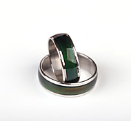 Ring Stainless Steel Round Unique Design Fashion Silver Jewelry Wedding Party Special Occasion Halloween Daily Casual 1pc