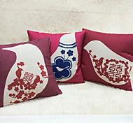 1 штук Лён Дорожные подушки Диван Подушка Оригинальные подушки Наволочки Подушки для тела,Графические принты Цветочные Новинки