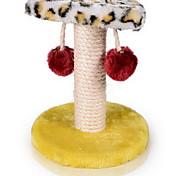 Cat Toy Pet Toys Interactive Scratch Pad Wood Sisal Plush