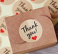 10Sheet/120Pcs Kraft Paper Thank You Gift Tags Wedding Favors Party Accessories Christmas DIY Burlap Wedding Vintage Wedding Decoration