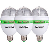 3W Точечное LED освещение 3 Высокомощный LED 250 lm RGB Декоративная AC 85-265 V 3 шт.