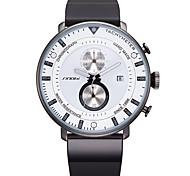 Masculino Relógio Esportivo Relógio de Moda Quartzo Japonês Silicone Banda Preta