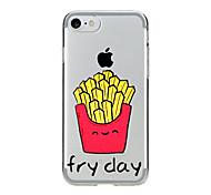 Для Прозрачный С узором Кейс для Задняя крышка Кейс для Мультяшная тематика Мягкий TPU для AppleiPhone 7 Plus iPhone 7 iPhone 6s Plus