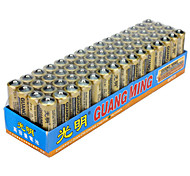 GUANGMING AA Zinc Dry Cell Battery 1.5V 60 Pack
