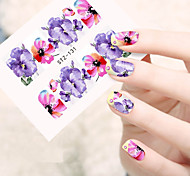 10pcs/set Hot Sale Beautiful Flower Design Nail Art Water Transfer Decals Nail Beauty Decals DIY Beauty Sticker STZ-131