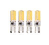 3W E14 G9 LED лампы типа Корн T 4 COB 290 lm Тёплый белый Холодный белый Регулируемая AC 220-240 V 4 шт.